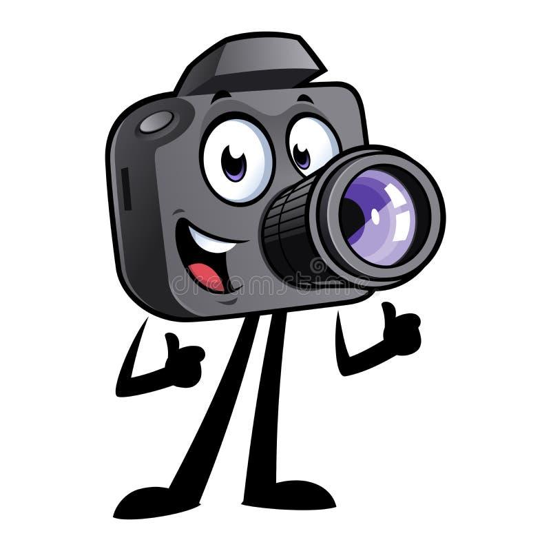 Mascotte della macchina fotografica del fumetto fotografia stock libera da diritti