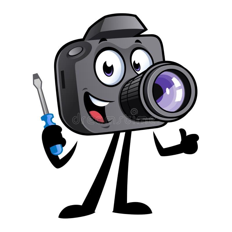 Mascotte della macchina fotografica del fumetto immagine stock libera da diritti