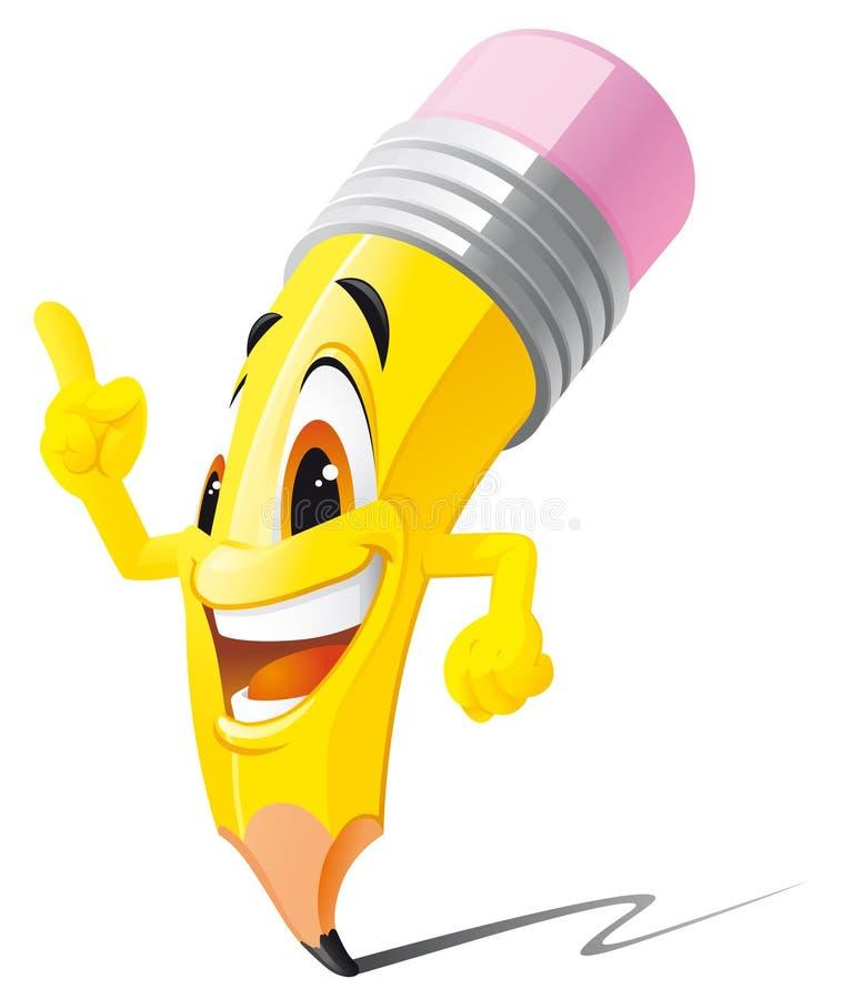Mascotte della matita royalty illustrazione gratis