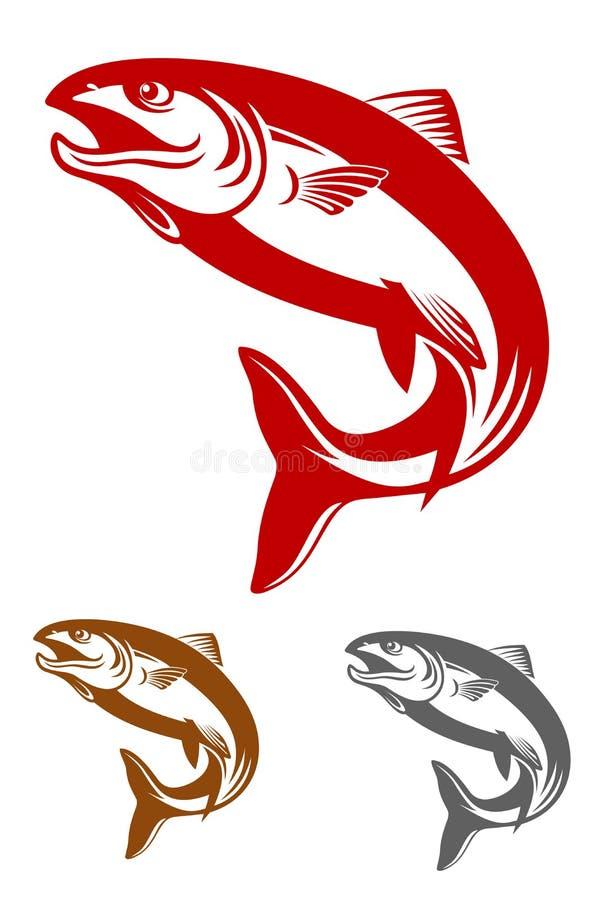 Mascotte di color salmone illustrazione di stock