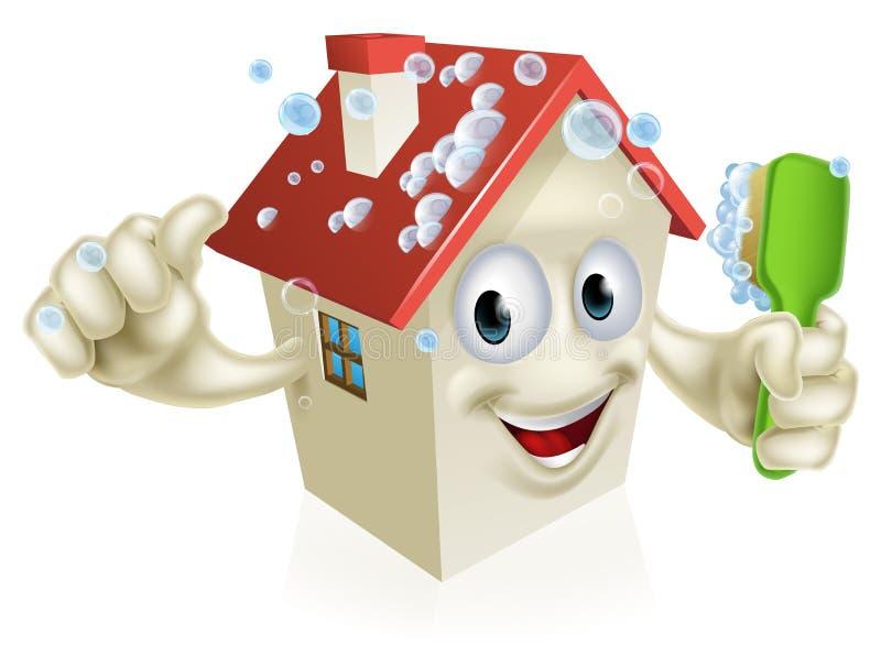 Mascotte di pulizia della camera illustrazione vettoriale for Pulizia della casa