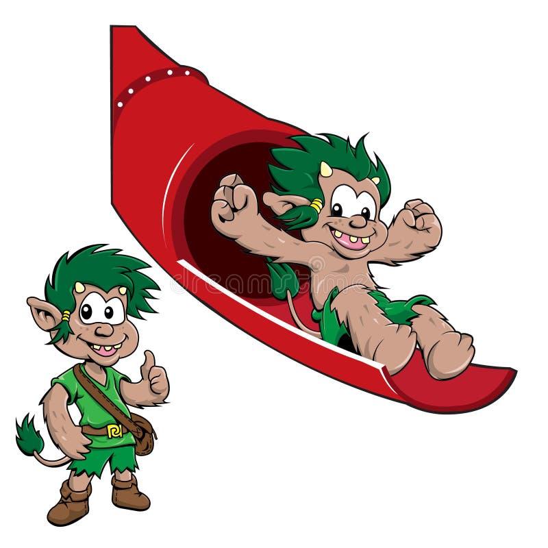 Mascotte di Troll del fumetto royalty illustrazione gratis