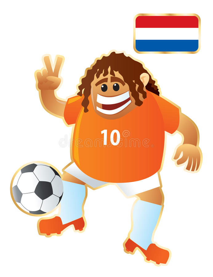 Mascotte Hollande du football illustration stock