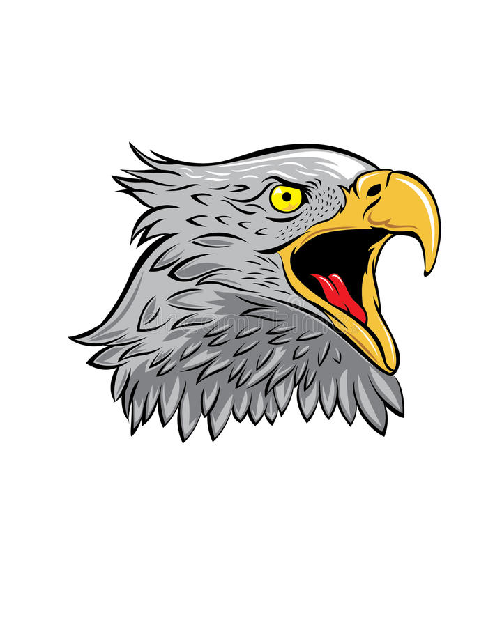 Mascotte Logo Eagle Vector Illustration royalty-vrije illustratie