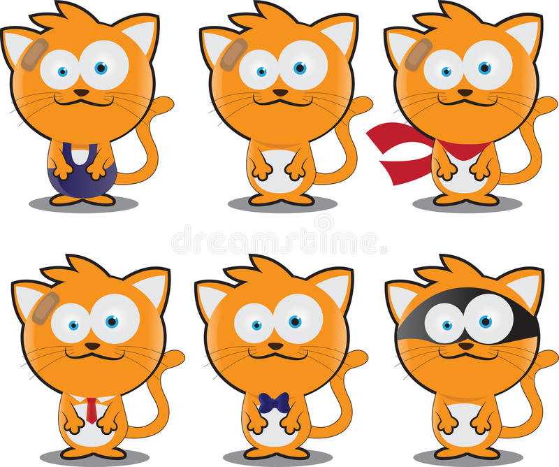 Mascotte mignonne de chat illustration libre de droits
