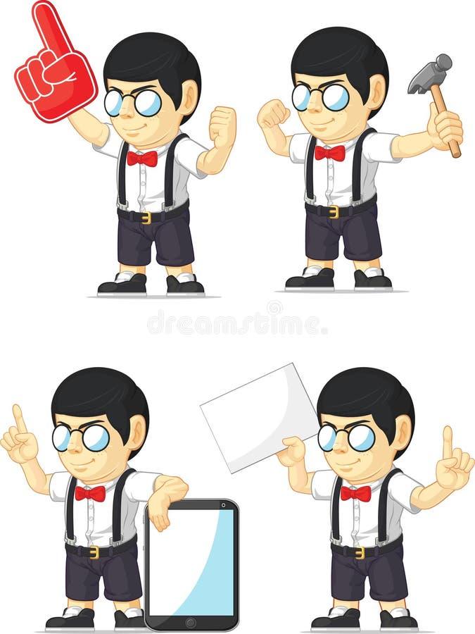 Mascotte personalizzabile 11 del ragazzo del nerd royalty illustrazione gratis