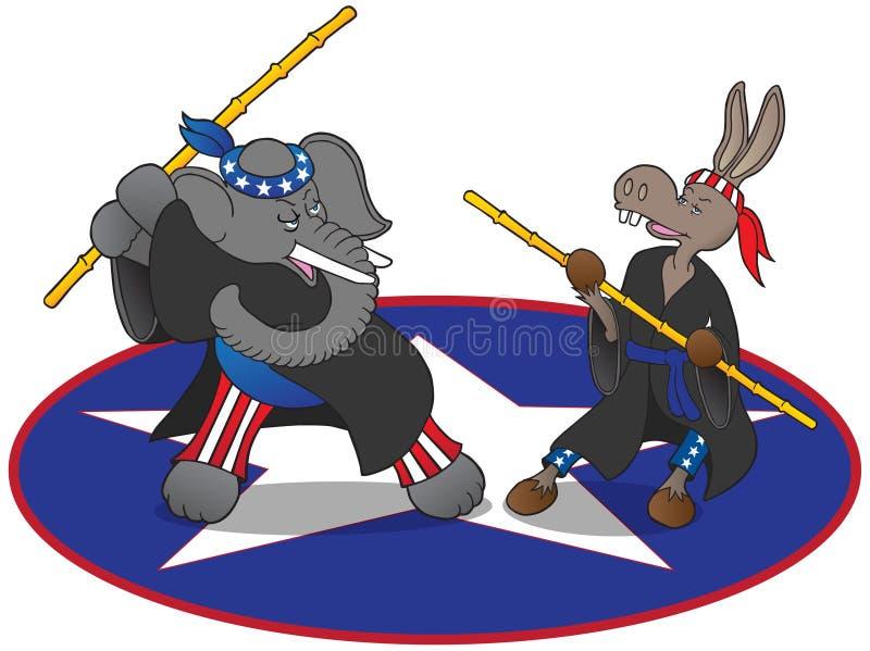 Mascotte politiche di arti marziali royalty illustrazione gratis