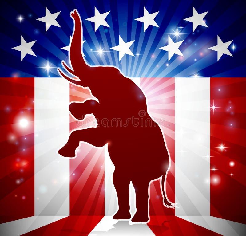 Mascotte politique d'éléphant républicain illustration libre de droits
