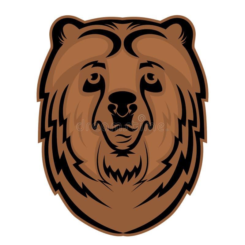 Mascotte principale d'ours pour une équipe de sports Pays de rappe de couleur de busines d'Internet de Web de course de planète d illustration de vecteur