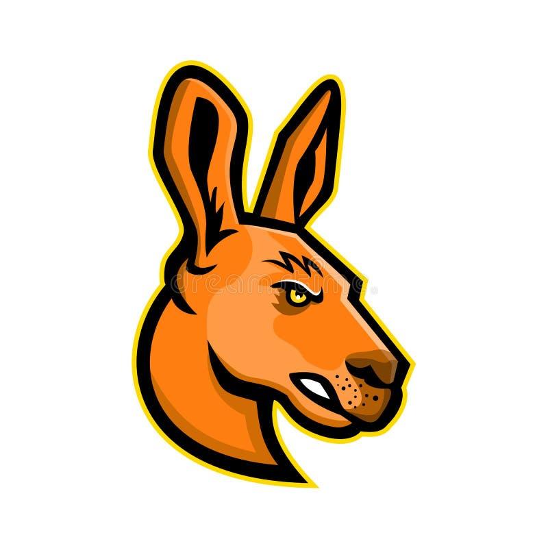 Mascotte principale de kangourou illustration de vecteur