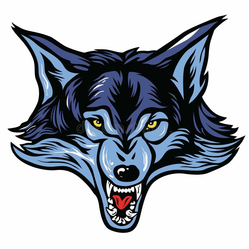 Mascotte principale de loup illustration de vecteur