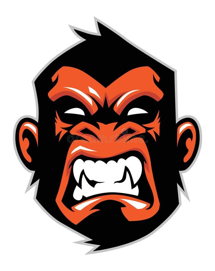 Mascotte principale de singe illustration de vecteur