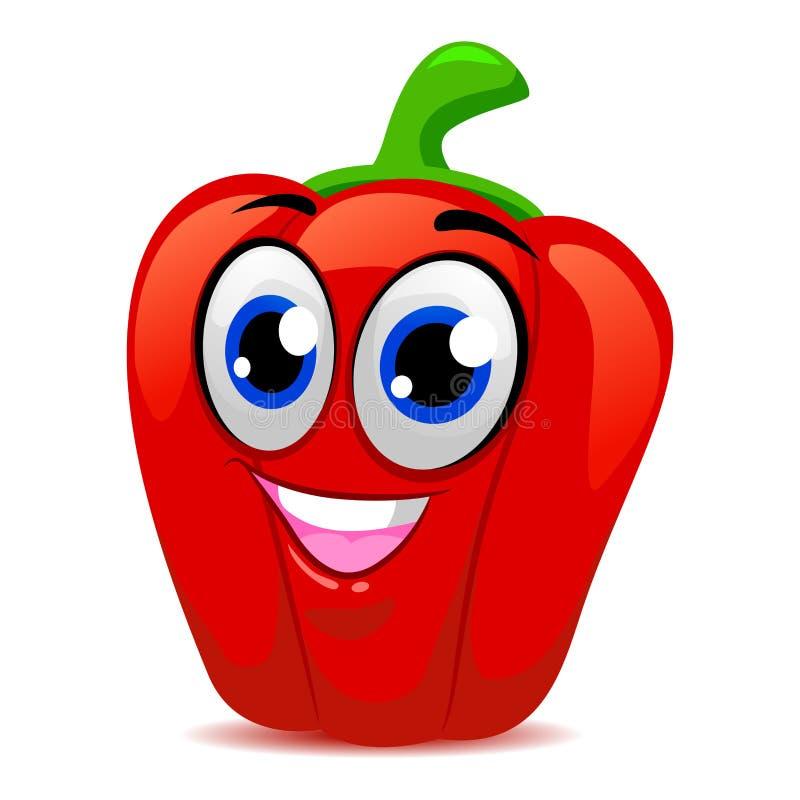 Mascotte rouge de paprika illustration stock