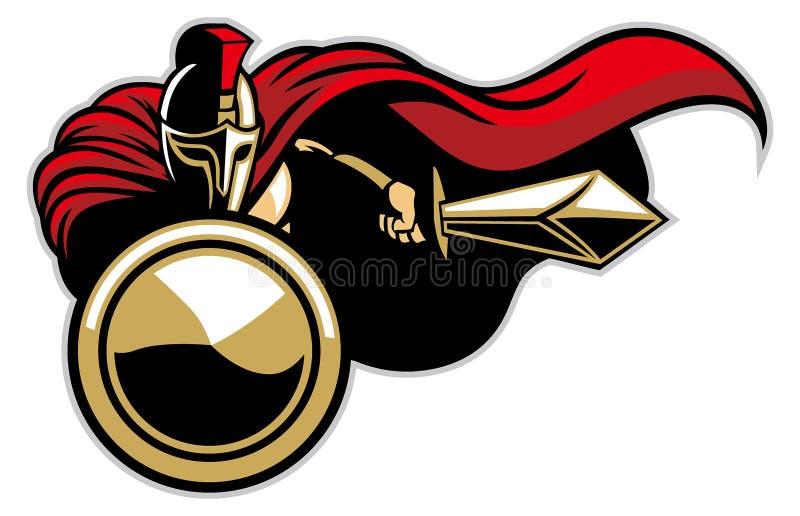 Mascotte spartana dell'esercito illustrazione vettoriale