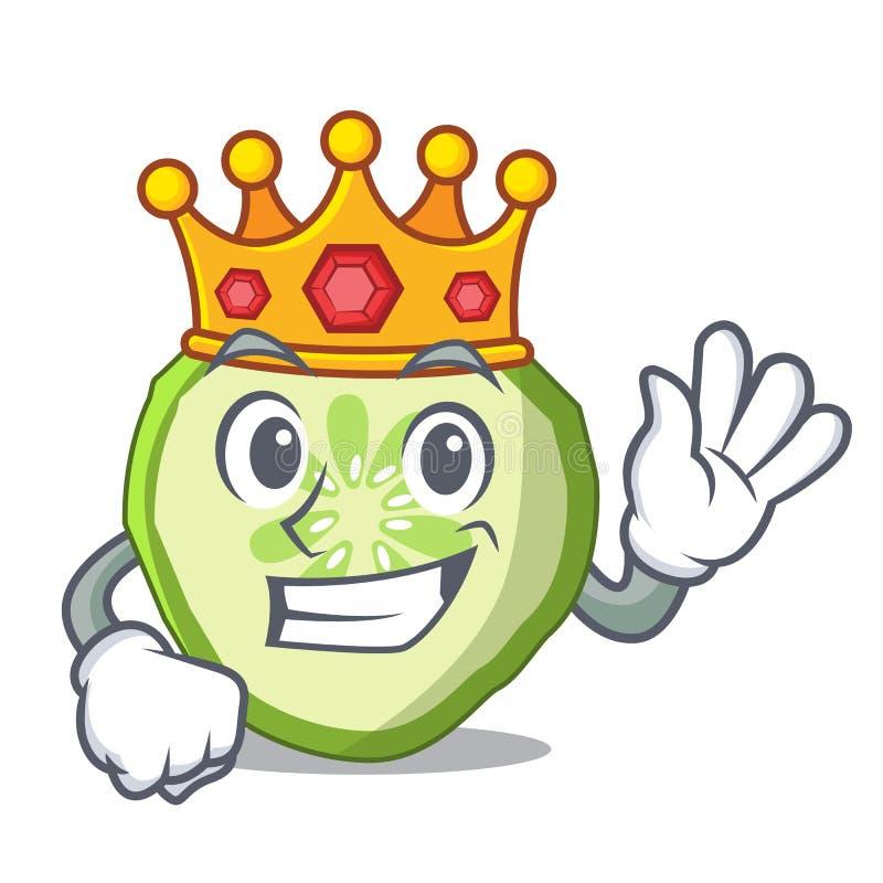 Mascotte végétale de concombre de tranche d'aliment biologique de roi illustration libre de droits