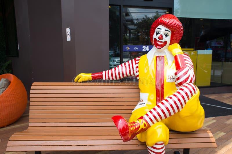 Mascotte van een McDonald's-Restaurant stock afbeelding