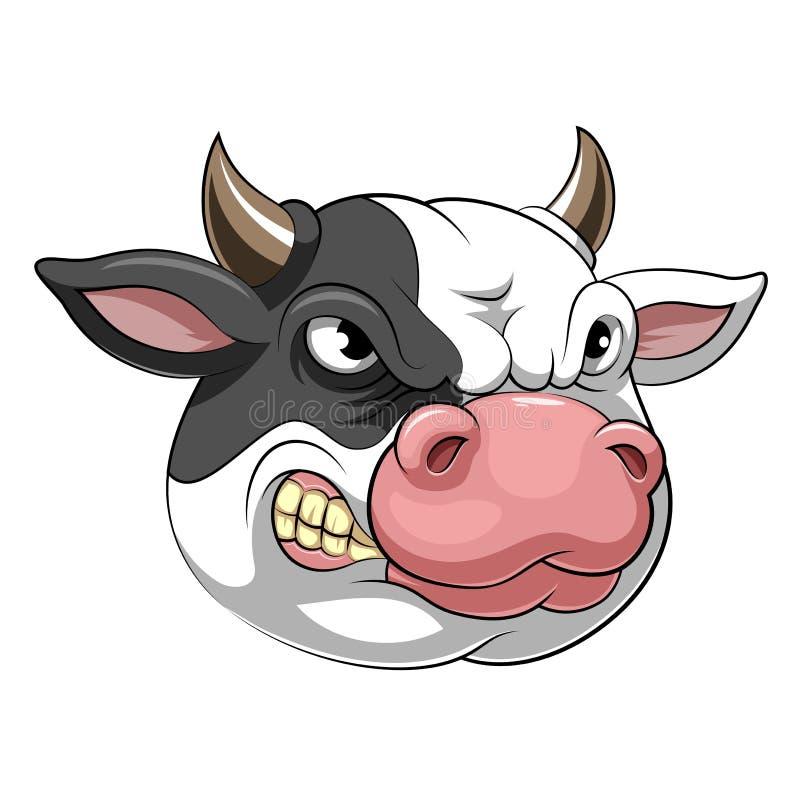 Mascottehoofd van een koe royalty-vrije illustratie