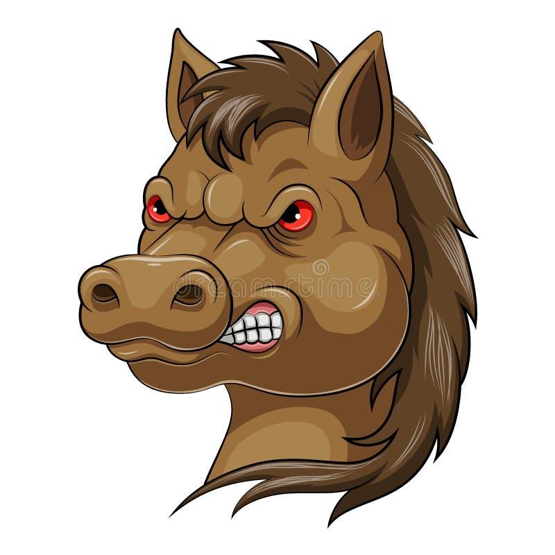 Mascottehoofd van een paard vector illustratie