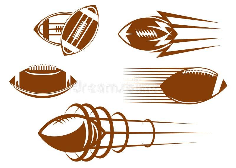 Mascottes de rugby et de football illustration de vecteur