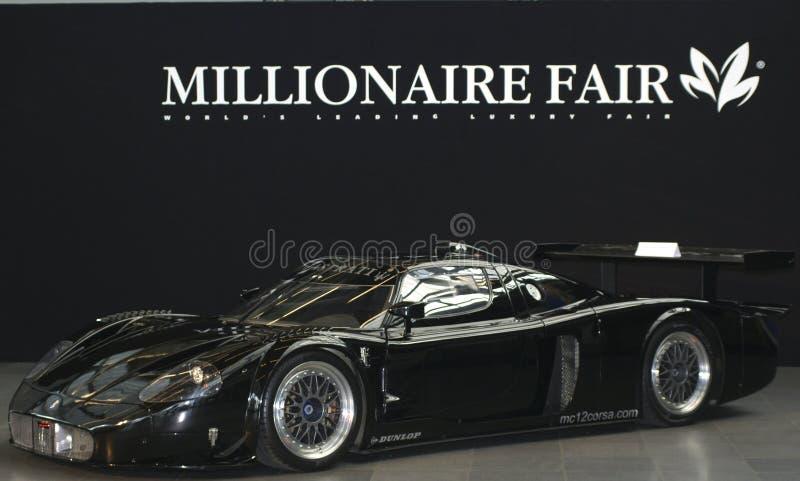 Maserati bij de Markt van de Miljonair stock afbeelding