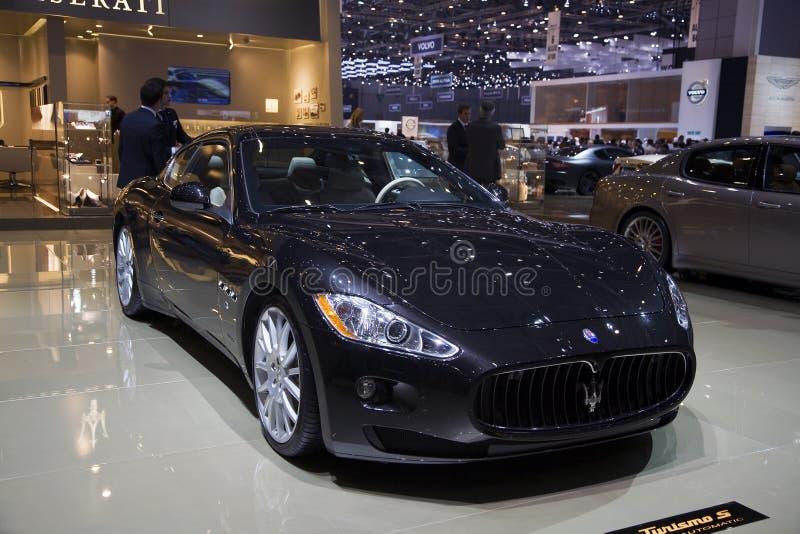 Maserati Gran Turismo S Automatic. At the 2011 Geneva Motor Show. Photo taken on: March 04th, 2011 stock image