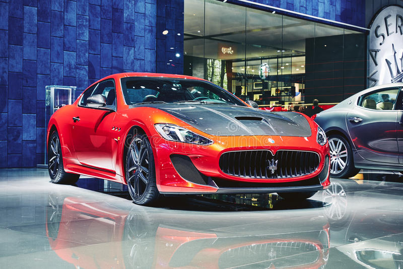 Maserati 2016 GranTurismo Lux Stradale lizenzfreie stockbilder