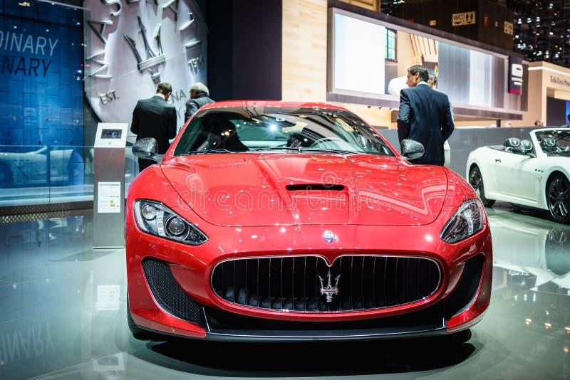 Maserati GranTurismo MC Stradale, Salon de l'Automobile Geneve 2015 photographie stock