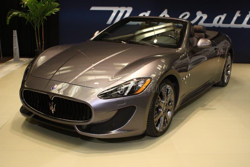 Maserati Granturismo at 2013 Toronto Auto Show stock photography