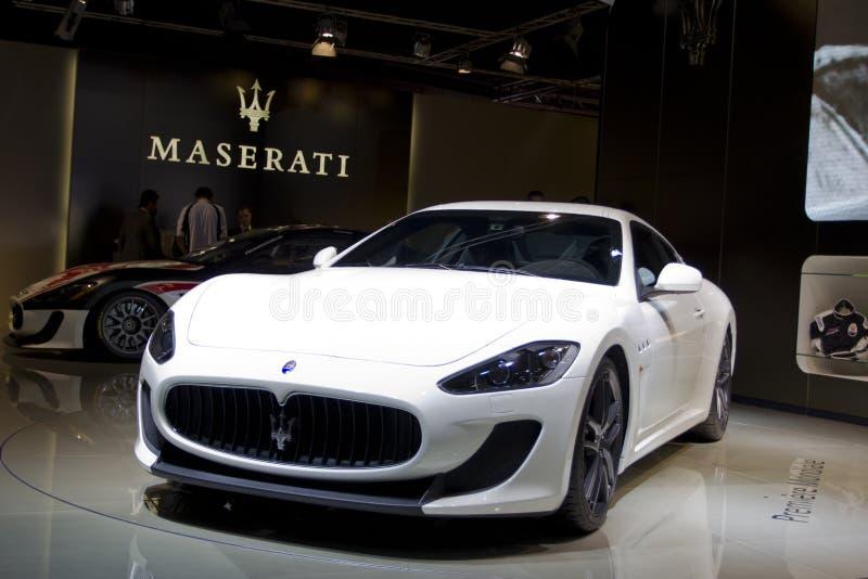 Maserati GT bujía métrica Stradale en la demostración de motor de París 2010 imagenes de archivo