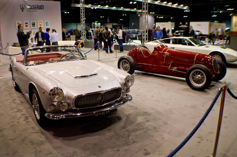 Maserati 3500GT Spider at Milano Autoclassica 2016. A Maserati 3500GT Spider exposed during the classic car exhibition Milano Autoclassica 2016 The Maserati 3500 royalty free stock images