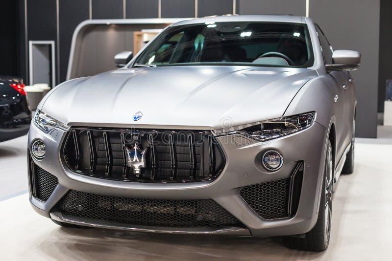 Maserati Levante Trofeo all'automobile Barcellona 2019 immagini stock