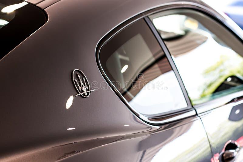 Maserati logo royalty free stock photography