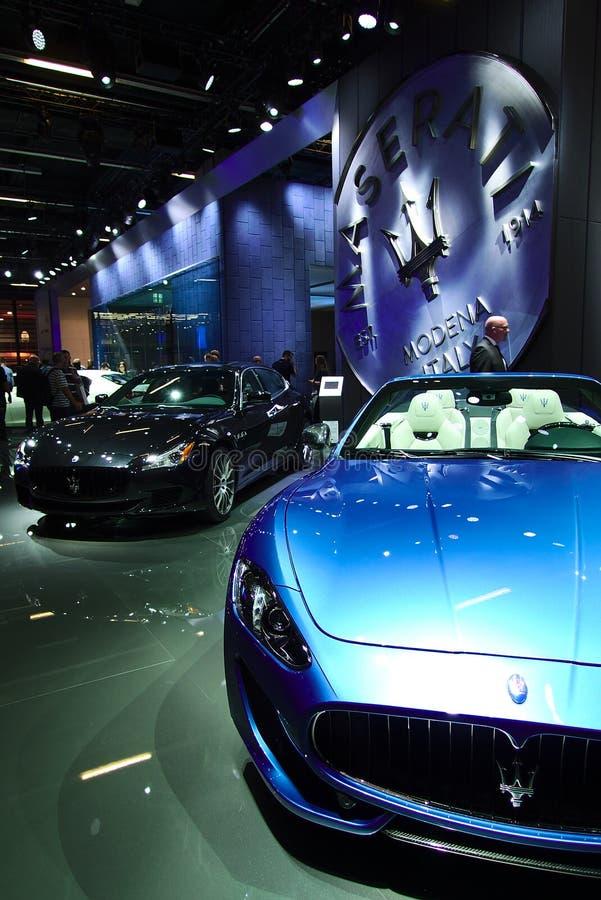 Maserati på IAA-bilarna royaltyfri fotografi