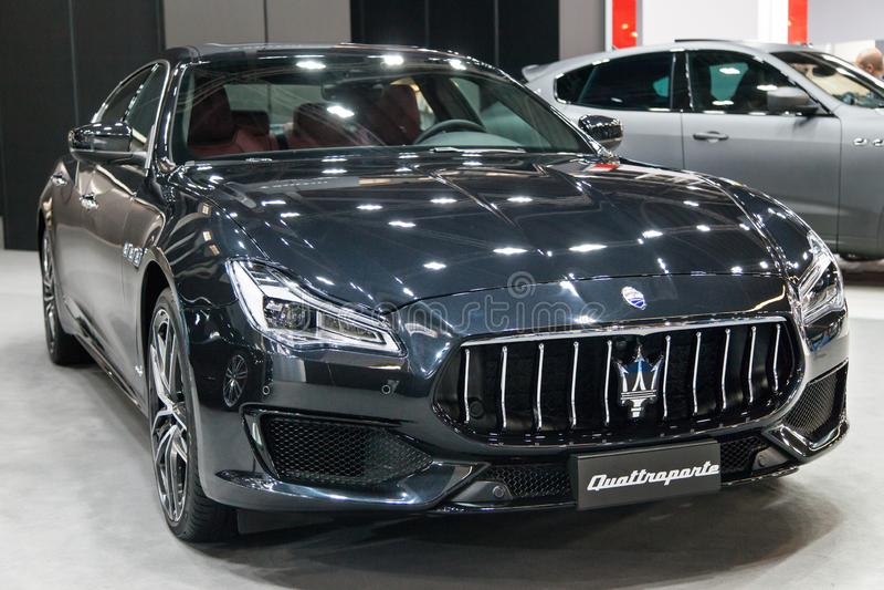 Maserati Quattroporte στην αυτοκινητική Βαρκελώνη 2019 στοκ φωτογραφία με δικαίωμα ελεύθερης χρήσης