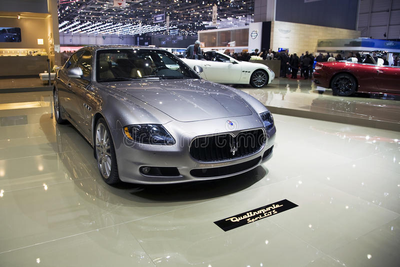 Maserati Quattroporte Sport GTS. At the 2011 Geneva Motor Show. Photo taken on: March 04th, 2011 royalty free stock images