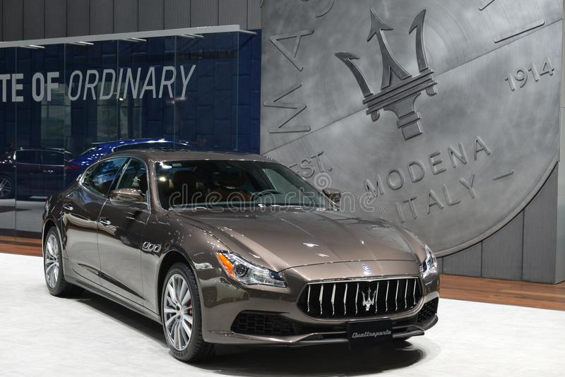 Maserati Quattroporte Sportscar στοκ εικόνες με δικαίωμα ελεύθερης χρήσης