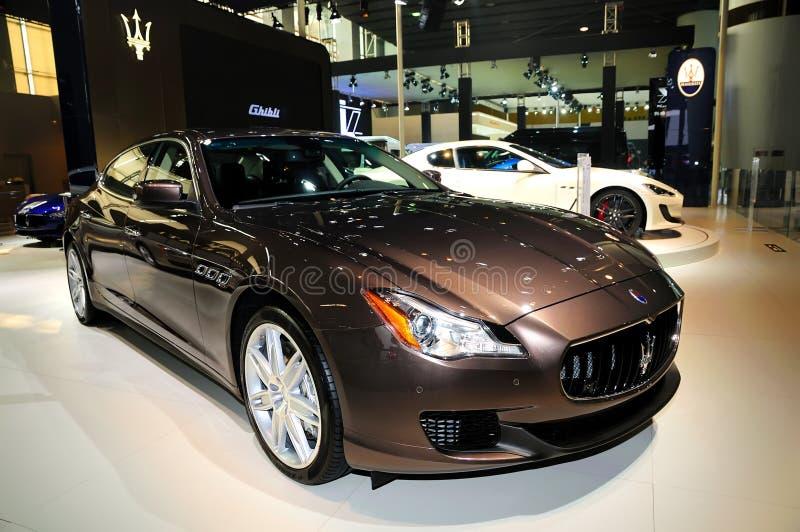 Maserati Quattroporte Sportscar imagem de stock royalty free