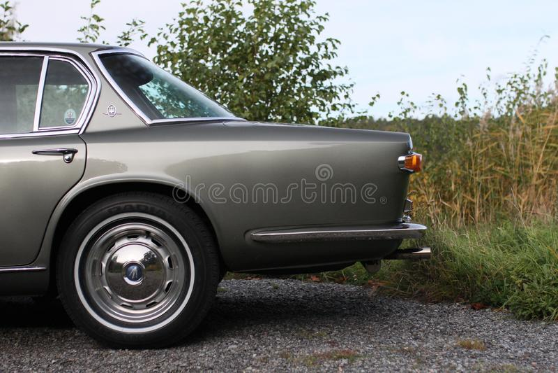Maserati Quattroporte 1965 - zurückgelassen vom Auto lizenzfreie stockfotos