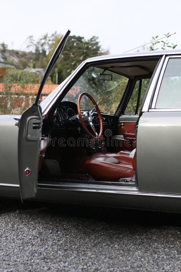 Maserati Quattroporte 1965 - Front door open royalty free stock photography