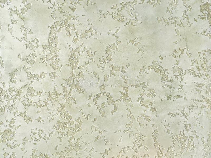 Masern Sie den dekorativen grünen Gips, der die alte Schalenwand nachahmt lizenzfreie stockfotos