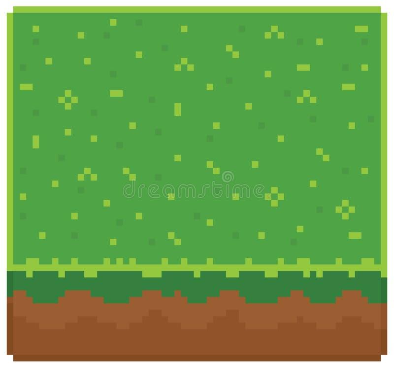 Masern Sie für platformers Pixel-Kunstvektor - Boden lizenzfreie abbildung