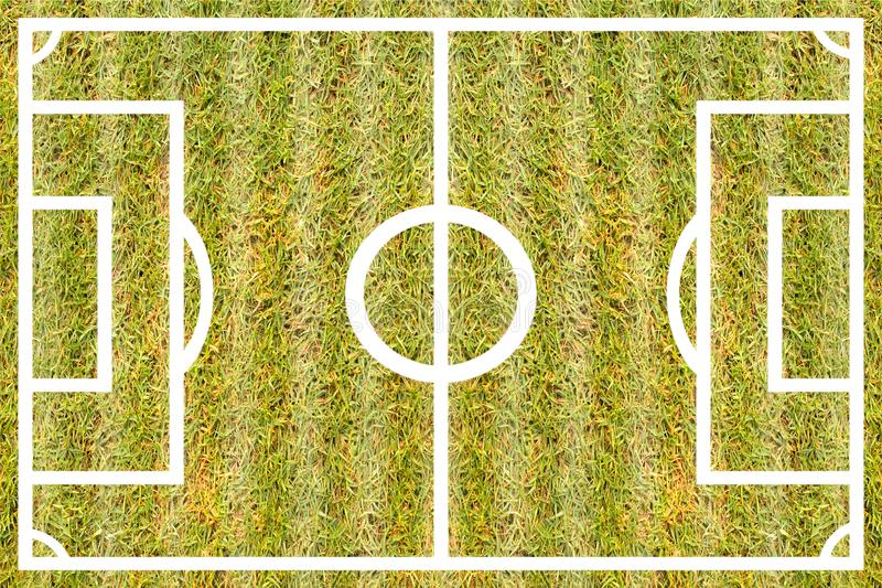 Masern Sie Grasfußball Kurs für Designmuster und -hintergrund vektor abbildung