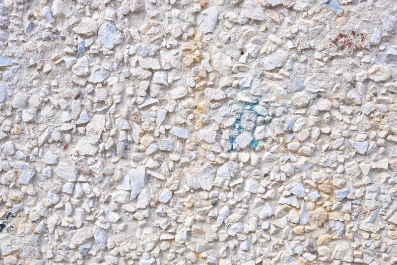 Masern Sie Oberfläche des herausgestellten gesamten Endes, Grundgewaschenen Steinboden lizenzfreie stockfotografie