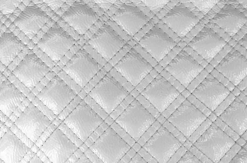 Masern Sie weißen Diamanten des Kunstleders mit genähtem Stich vektor abbildung