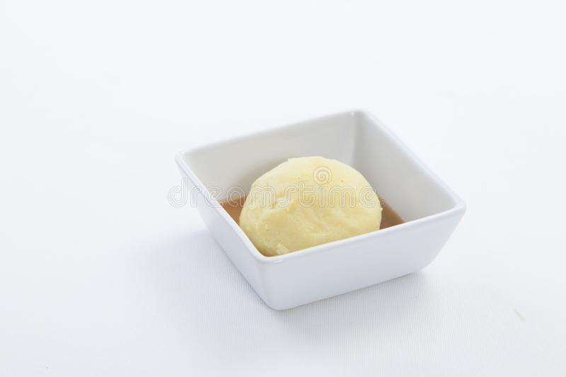 Mashed potato over a white background. royalty free stock images