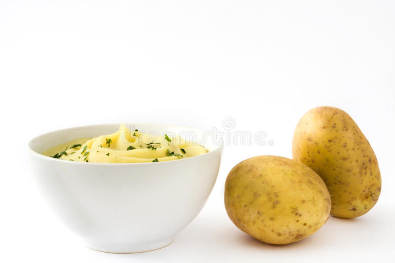 Mashed potato isolated on white background royalty free stock images