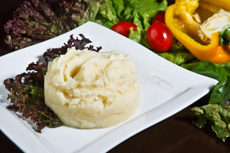 Download Mashed potatoes stock image. Image of salad, green, fast - 43022193