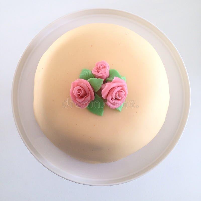 Masipan蛋糕 免版税库存照片