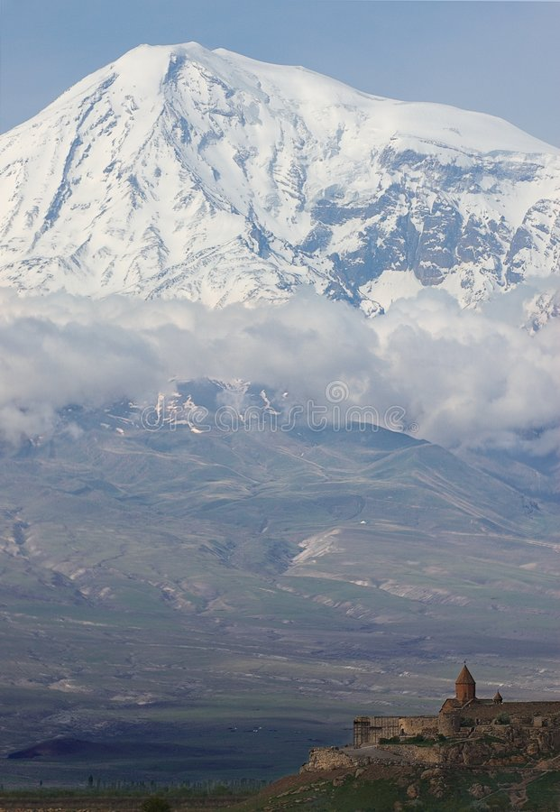 Masis. Is armenian name of Ararat stock photography