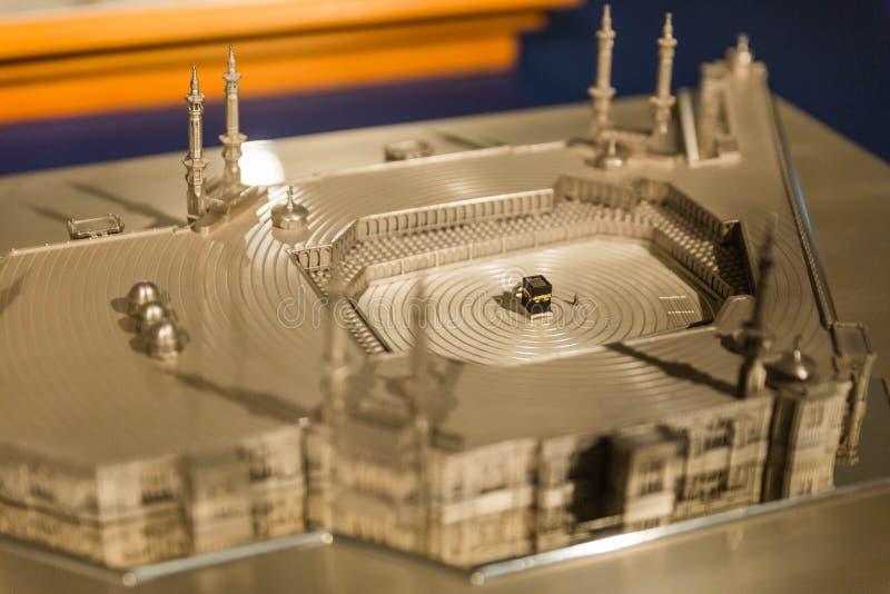 Masjid AlHaram钢模型在麦加朝圣的 免版税库存图片